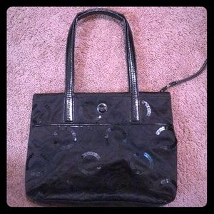 Sequin black coach purse!!!